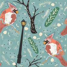 Seamless Winter Pattern With C...