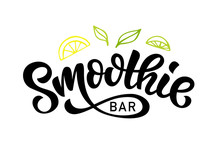 Smoothie Bar Vector Logo Badge...