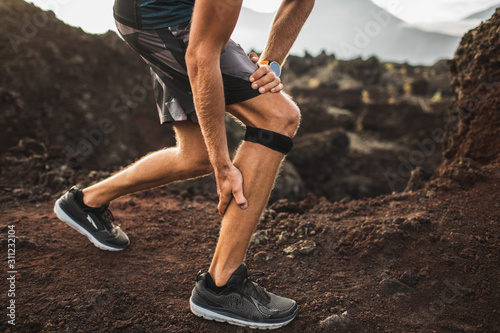 Runner using Knee support bandage but have a problem with calf muscle on running Canvas Print