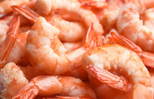 Pile Of Delicious Peeled Shrim...