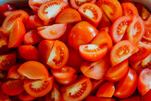 Lots Of Red Chopped Tomato For...