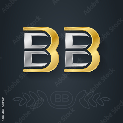 B and B - initials Canvas Print