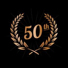 50 Years Anniversary Design Te...