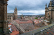 Rooftops on a cloudy day in Salamanca, Spain