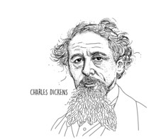 Charles Dickens Line Draw