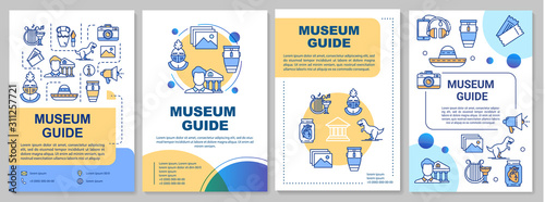 Museum guide brochure template Canvas Print