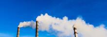 Industrial Smoke Stack Of Coal...