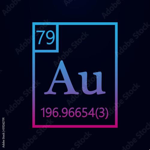 Photo Periodic table of elements - aurum nolan icon