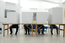 Voters On Election Day. Citize...