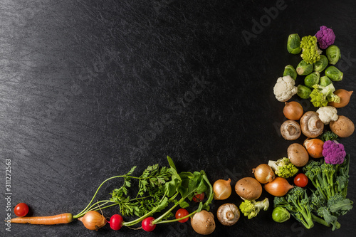 Photo やさいフレーム Generic frame of fresh vegetables