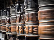 Prayer Wheels At Swayambhunath...