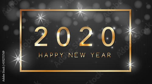 Fotografía  Happy new year background design for 2020