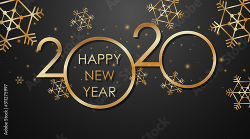 Happy new year background design for 2020 - 311275997