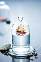 Sailboat Under A Glass Dome, S...