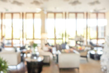 Abstract Blur Luxury Hotel Lob...