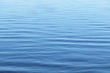 Smooth Surface Of Blue Water