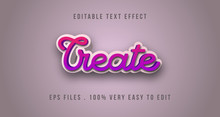 3D Cartoon Text Effect, Editable Text