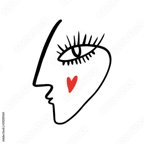 Obrazy Picasso  abstract-fashion-artistic-portrait-painted-illustration-of-people-face-silhouette-one-line