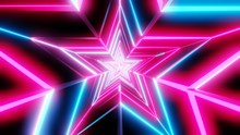 Pink And Blue Star Abstract.3D...