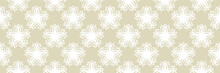 White Floral Seamless Pattern On Olive Green Background