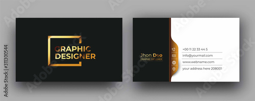Modern Business Card - Creative and Clean Business Card Template. Slika na platnu