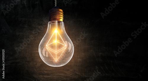 Fototapeta Crypto currency exchange as science obraz