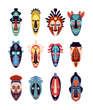 African Mask. Colorful Ethnic ...