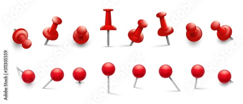 Fotomural Red thumbtack