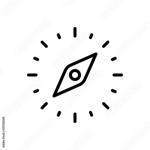 Black line icon for orientation