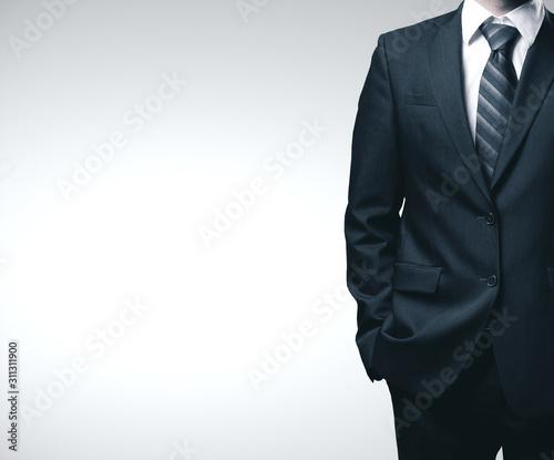 Fotografia, Obraz Businessman in black suit