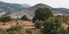 Nimrod Fortress Sits On A Peak Above The Hermon Stream Nature Reserve In The Golan Heights  Israel With Mt Hermon In The Left Background