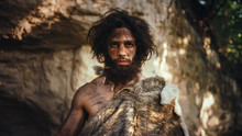 Portrait Of Primeval Caveman W...