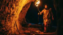 Primeval Caveman Wearing Anima...