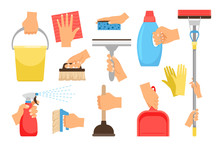 Hands With Household Equipment...