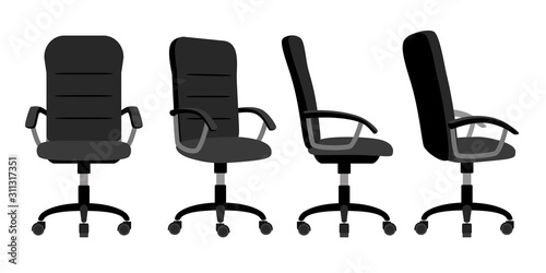 Photo Office chair front and back