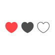 Heart icon in different styles