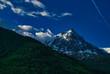 canvas print picture - Mont Blanc Berg in den Alpen der höchste Berg Europas 4810 m hoch an der Grenze zwischen Italien und Frankreich
