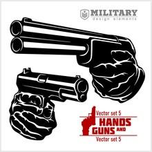 Hands With Shotgun And Pistol ...