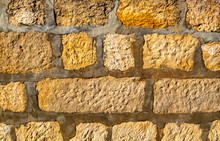 Stone Wall Background Close Up...