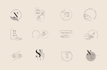 Logo Design Template In Trendy...