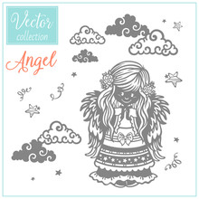 Angel. Vector Illustration. Ch...