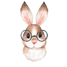 Little Bunny With Glasses. Cut...