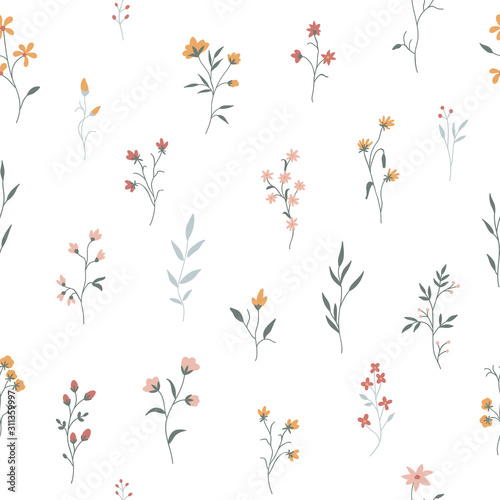 seamless-pattern-with-cute-flowers-and-plants-on-a-transparent-background-vector-illustration-for-wallpapers-cards-or-fabric