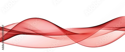 Color light red abstract waves design - 311366157