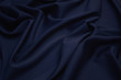 canvas print picture - Luxurious woolen fabric in dark blue. Background and pattern.
