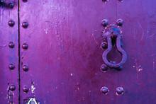 Old Purple Door In Marrakech