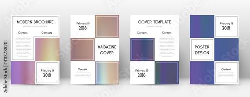 Obraz na plátně  Flyer layout. Business stunning template for Broch