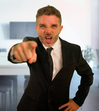 Business Work Lifestyle Portrait Of Stressed And Angry Businessman Screaming Furious Scolding Very Upset And Unhappy As Company Boss In Problems And Stress Concept