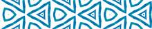 Blue Kaleidoscope Seamless Border Scroll. Geometri