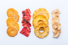 Dried Fruits, Dehydrated Persimmon, Watermelon, Pineapple, Apple Chips
